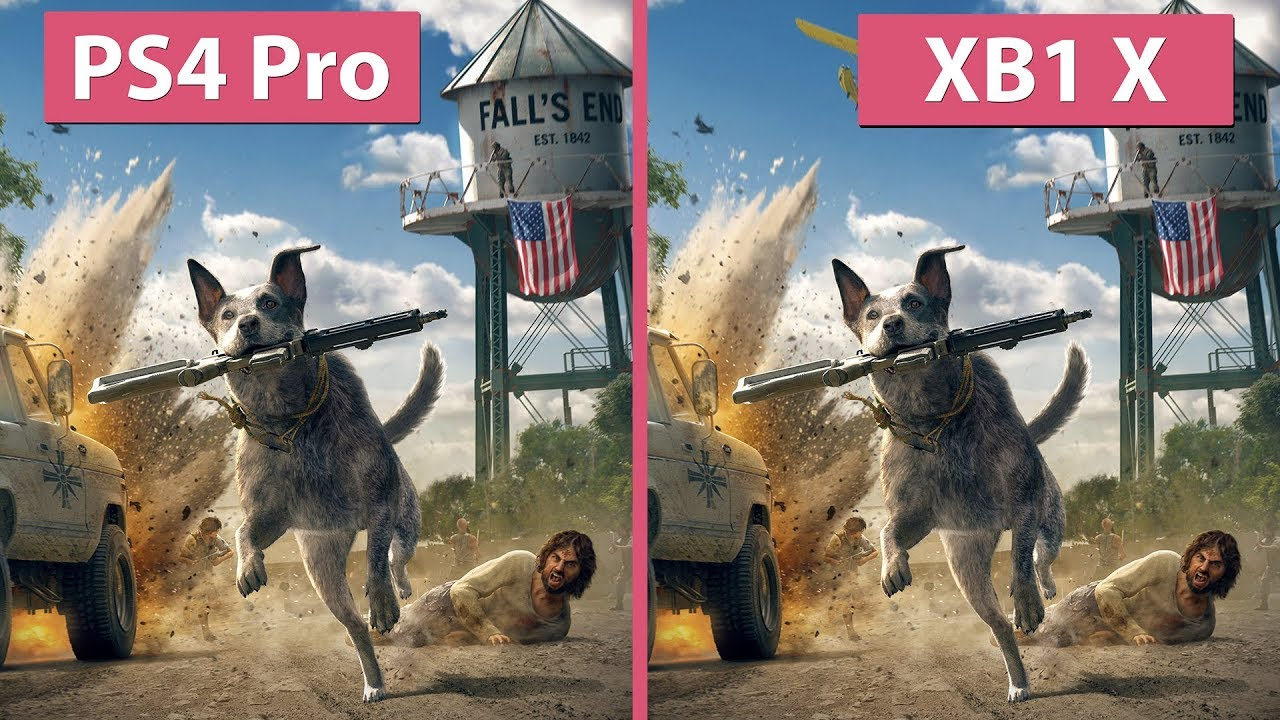 [4K] Far Cry 5 – PS4 Pro vs  Xbox One X Graphics Comparison