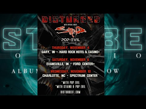 Disturbed announce some live concerts w/ Staind and Pop Evil
