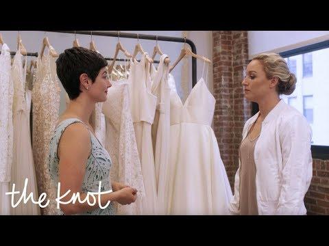 The Knot Dream Wedding: Elena and Amanda Find Their Dream Dresses