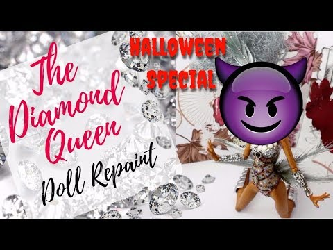 The Diamond Queen - Halloween Special Monster High Doll Repaint / Complete Crystal Doll Faceup