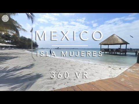 360 VR 4k on the Beach in Isla Mujeres