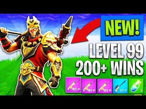 NEW SKINS & WEAPONS in FORTNITE! // LEVEL 99 // 200+ WINS (Fortnite: Battle Royale)