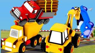 Construction Vehicles Toys Excavator, Dump Truck, Cement Mixer, Garbage Trucks