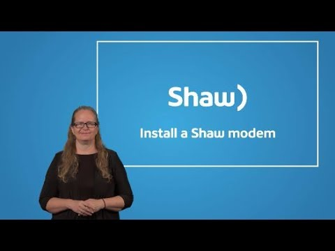 ASL How to Self-Install Shaw Home Modem