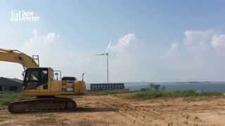 30kw wind plus 6kw solar hybrid off grid system.