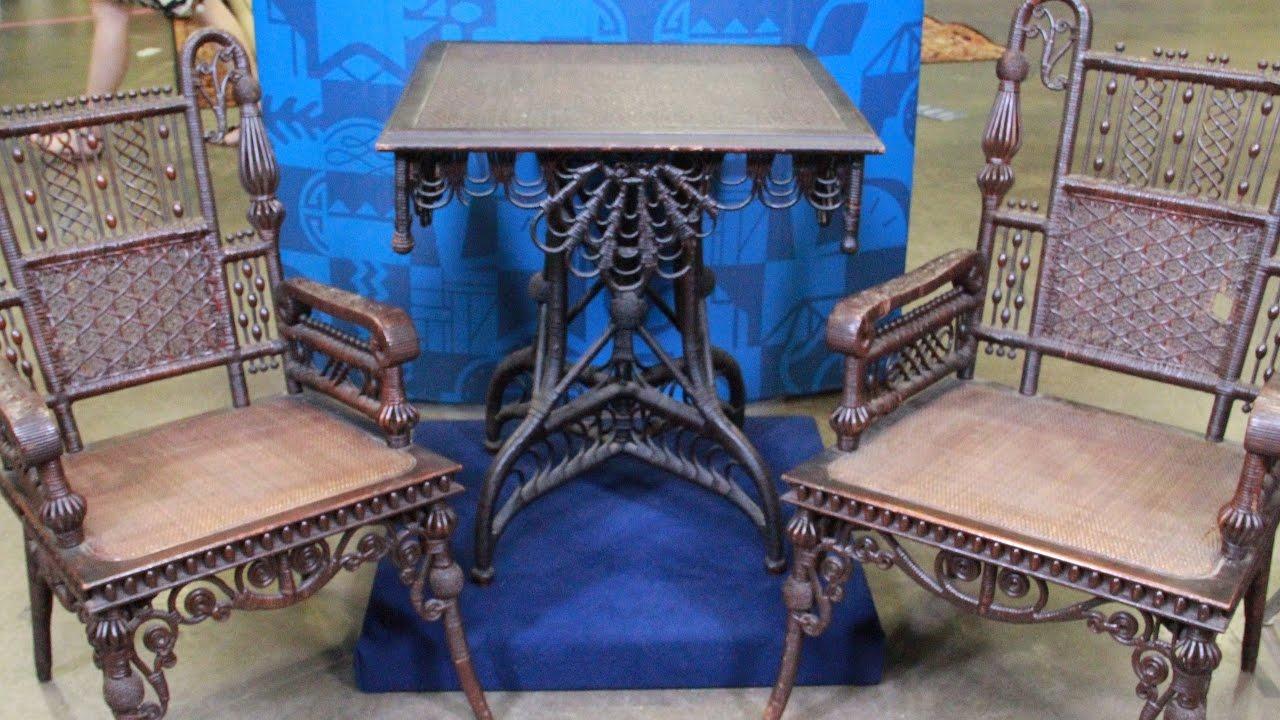 Web Appraisal: Wakefield Rattan Company Furniture, ca. 1875. Antiques  Roadshow PBS - Web Appraisal: Wakefield Rattan Company Furniture, Ca. 1875 - YouTube