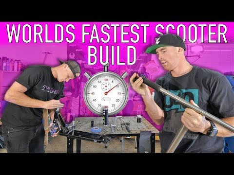WORLDS FASTEST PRO SCOOTER BUILD FT DAKOTA & HUNTER SCHUETZ