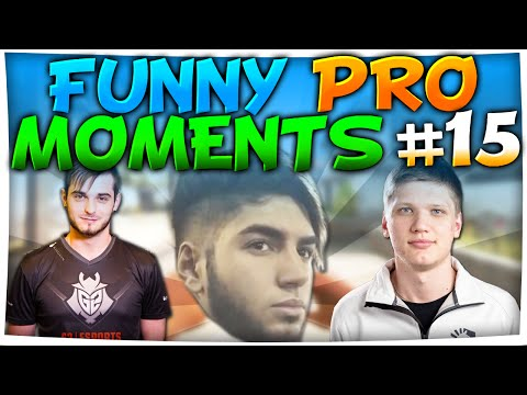 CS:GO - FUNNIEST PRO MOMENTS #15 FT. s1mple, shox, roca & More!
