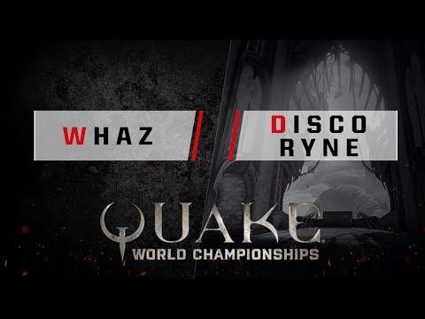 Quake - whaz vs. discoRyne [1v1] - Quake World Championships - Ro16 NA Qualifier #2