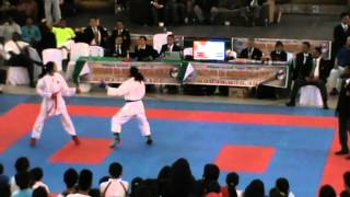 3rd Hayashiha Championship 2014 (16-17 Girls Kumite) Philippines VS Sri Lanka - FINALS