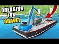 DREDGING ON THE LAKE | ON THE SEARCH FOR GRAVEL AT THE BOTTOM | FARMING SIMULATOR 2017