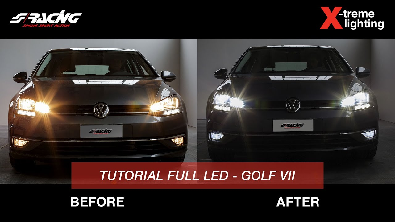 Plafoniera Targa Led Golf 7 : Ita] golf 7 model year 2017 conversione led simoni racing youtube