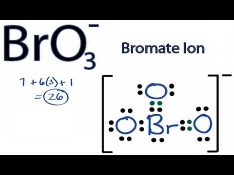 BrO3- Lewis Structure: How to Draw the Lewis Structure for BrO3-