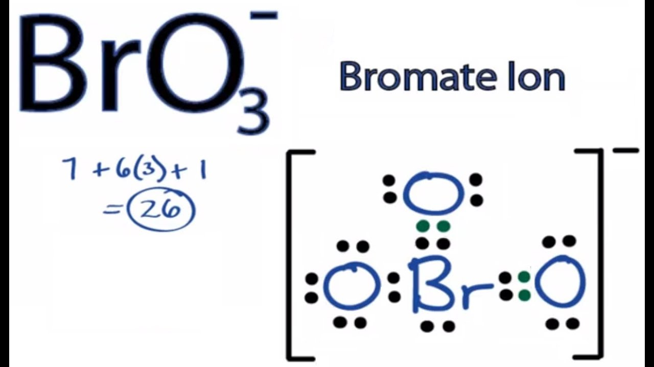 BrO3- Lewis Structure: How to Draw the Lewis Structure for BrO3 ...