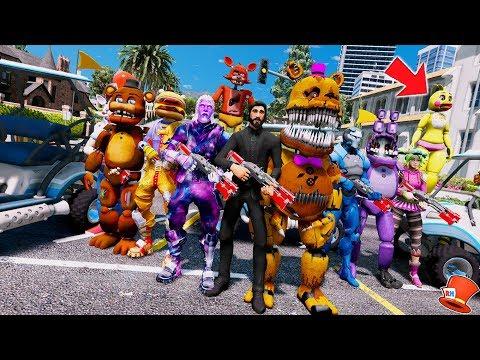 ANIMATRONIC & FORTNITE BATTLE ROYAL MOD IN GTA 5! (GTA 5 Mods For Kids FNAF RedHatter) thumbnail