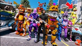 ANIMATRONIC & FORTNITE BATTLE ROYAL MOD IN GTA 5! (GTA 5 Mods For Kids FNAF RedHatter)