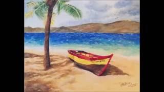 Washed Ashore - Acrylic Speed Painting