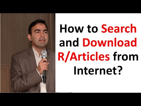 How to search and download Research Articles from Internet.