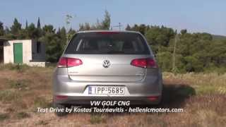 VW GOLF CNG  test drive by Kostas Tournavitis - hellenicmotors.com