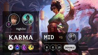 Karma Mid vs Diana - KR Master Patch 9.24