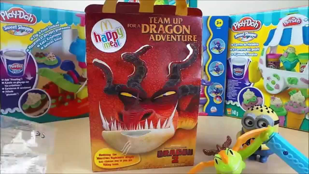 Mcdonalds Uk Kids Happy Meal How To Train Your Dragon 2 Surprise Toy Opening Youtube