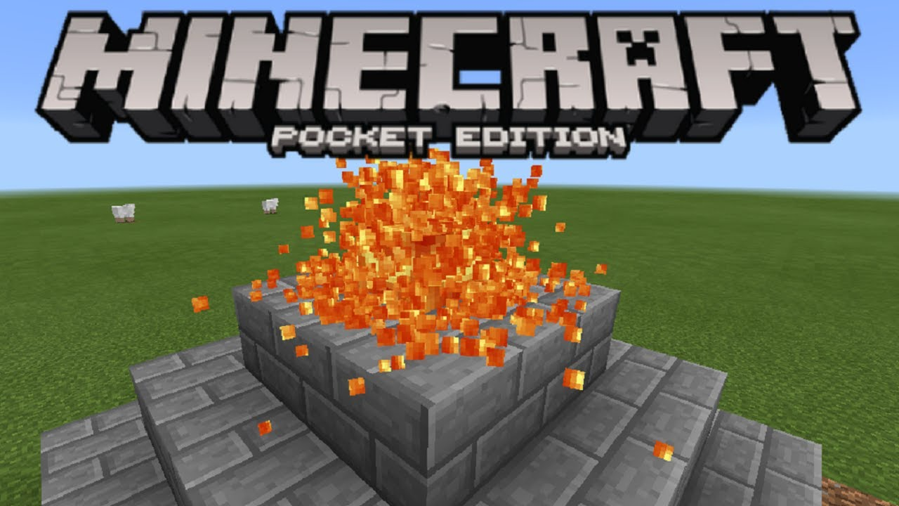 How to make a working volcano in minecraft pe