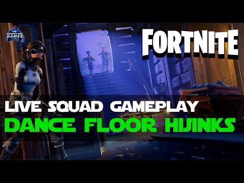 Fortnite Battle Royale: Squad Gameplay - Dance Floor Edition