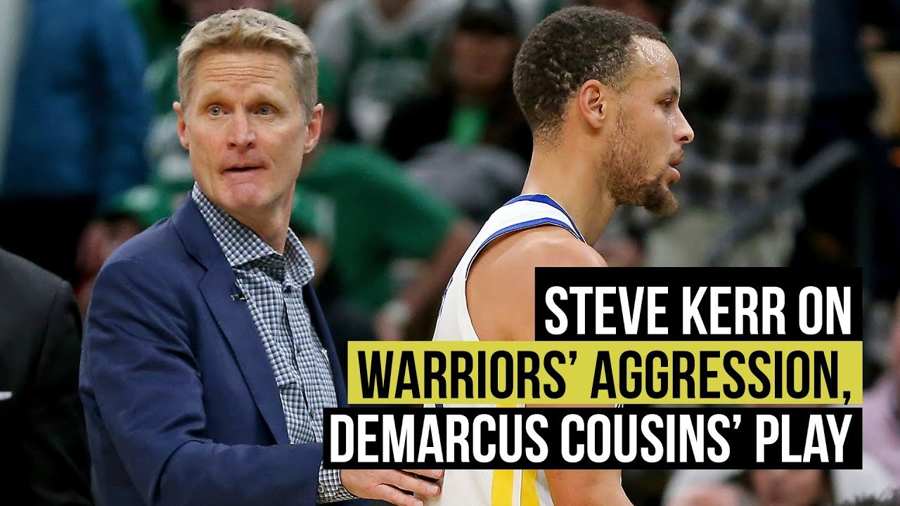 Steve Kerr on Kevin Durant's aggression, progress of DeMarcus Cousins