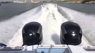 37' Freeman with 2 seven-marine 557's test run