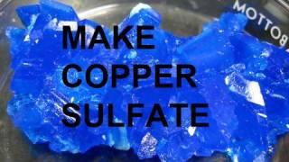 Make-Kupfer-Sulfat von Kupfer und Schwefelsäure (3-Wege)