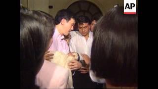 PHILIPPINES: CORAZON AQUINO SNUBS GRANDSON'S BAPTISM