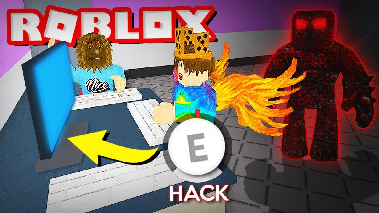 Hacking In Roblox To Escape The Beast Flee The Facility Youtube
