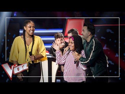 La hermana pequeña de Linda Rodrigo conoce a Luis Fonsi | La Voz Antena 3 2019