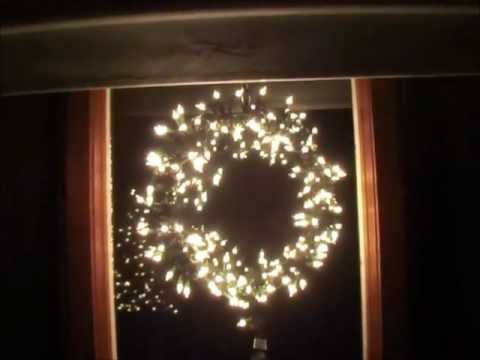 Reused items to make lighted Christmas window wreath. - YouTube