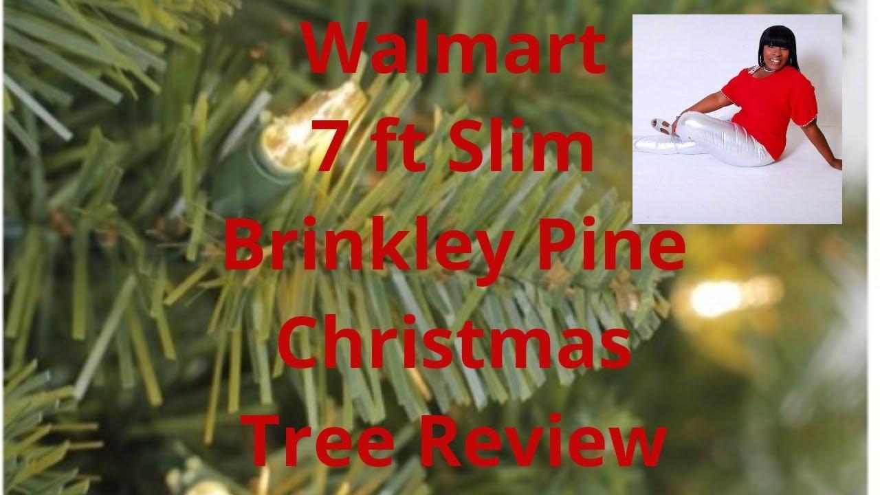 Walmart 7 Ft Slim Brinkley Pre Lit Christmas Tree Unboxing