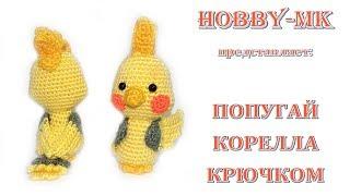 Корелла попугай крючком (авторский МК Светланы Кононенко)
