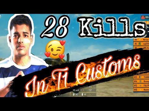 Tier 1 Scrims   JONATHAN 12 Kills Solo   28 Squad Kills In T1 Customs