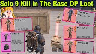 9 Kill in The Base Solo Vs Squad- Rarest Loot PUBG Metro Royal chapter 2
