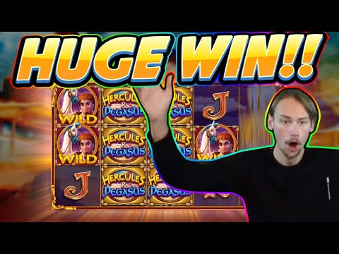 HUGE WIN! Hercules and Pegasus BIG WIN - NEW SLOT from Pragmatic - Casino Game from Casinodaddy - 동영상