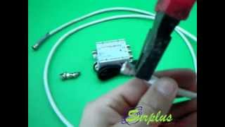 Amplificatore Segnale Antenna TV Digitale DVBT DTT - COLLEGAMENTO