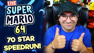 NO RESET RUNS? HMMM WE'LL SEE LOL | MARIO 64 SPEEDRUN [70 STAR]