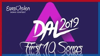 A DAL 2019 - First 10 Songs - Eurovision 2019 Hungary