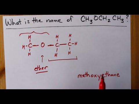 How To Name CH3OCH2CH3
