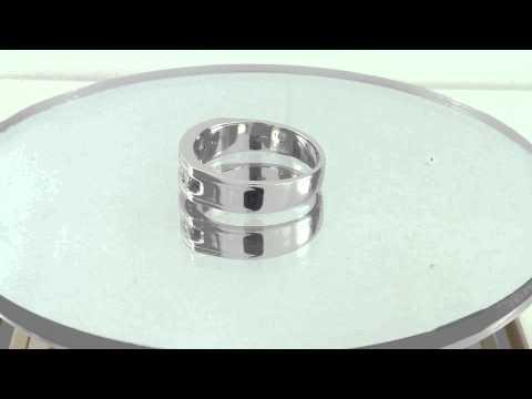 Estate 0.50CT 14K White Gold Princess Cut Diamond Band Engagement Ring Certified