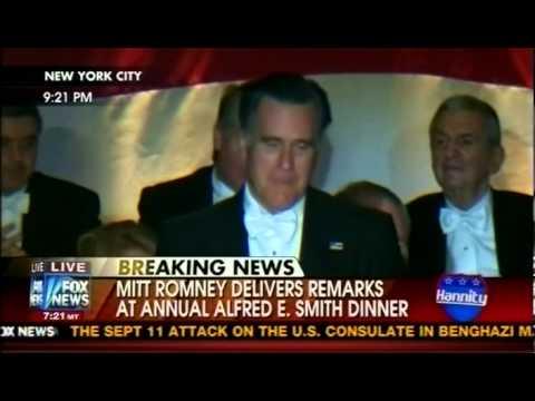 Al E. Smith Dinner Oct. 18, 2012 - Romney & Obama