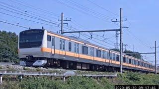 JR中央線 ライブカメラ 日野駅~豊田駅間 JR Chuo Line Hino~Toyoda Station train LIve Webcam,Japan,tokyo