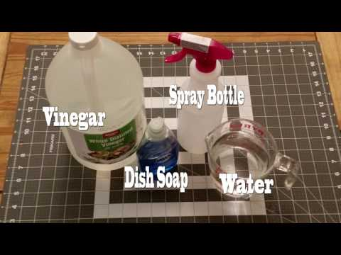 Make Your Own Window Cleaner With Vinegar And Dish Soap