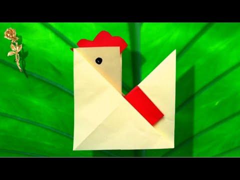 Origami facile poule youtube - Origami youtube facile ...
