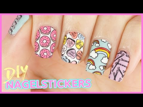 DIY Nagelsticker | Reverse Stamping - Tumblr Girl & Crystal Clear von MoYou London