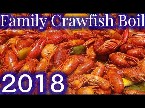 Cajun Crawfish Boil Every Week With Family & Relatives (2018)